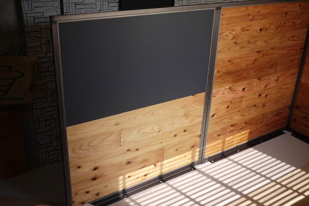 チョークアート黒板パーテーション